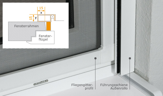 insektengitter spannrahmen f r fenster fliegenschutz nach ma. Black Bedroom Furniture Sets. Home Design Ideas