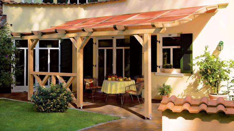 sonnensegel terracotta der pergola sonnenschutz mit. Black Bedroom Furniture Sets. Home Design Ideas